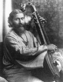 Hazrat Inayat Khan and vina.